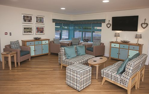 In a dementia care environment, the floor should be viewed as one continuous surface.