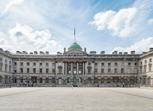 Somerset House was built in the neo-classical architectural style and has a very distinct designs of rooflights.