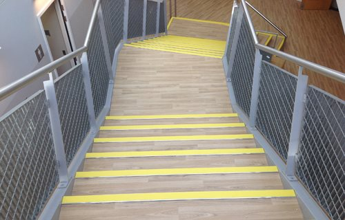 Quantum Flooring Solutions, a trading name of Quantum Profile Systems Ltd - Step on It:  Stairway Safety